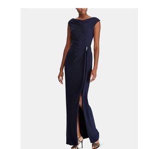 NWT Ralph Lauren evening wear dress with Rouching